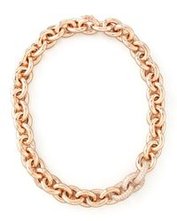 Eddie Borgo | Metallic Pave-Link Cable Chain Necklace | Lyst