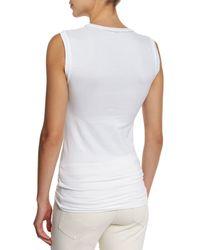 Brunello Cucinelli - White Stretch-cotton Muscle Tank Top - Lyst
