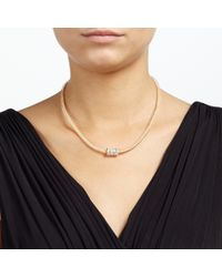John Lewis - Metallic Ball And Glass Stone Pave Necklace - Lyst