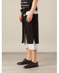 Yohji Yamamoto - Black Wrapstyle Apron Shorts for Men - Lyst