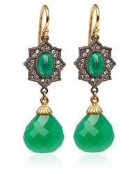 Arman Sarkisyan | Green Emerald and Chrysophrase Drop Earrings | Lyst