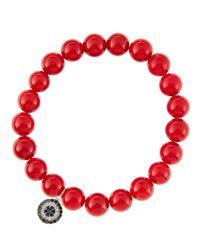 Sydney Evan   Red Design Your Own Bracelet (made To Order)   Lyst