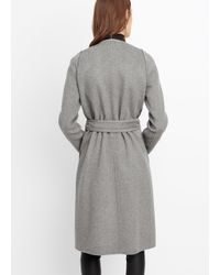 VINCE | Gray Belted Car Coat | Lyst