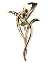 Jones New York | Metallic Gold-tone Bird Of Paradise Crystal Pin Box | Lyst