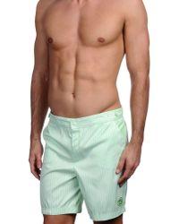 f146fe08d6ef4 Lyst - Robinson Les Bains Swim Trunks in Green for Men