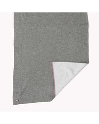 Tommy Hilfiger | Gray Cotton Scarf for Men | Lyst