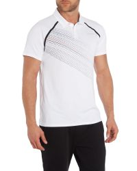 Björn Borg - White Hand Drawn Stripe Polo Shirt for Men - Lyst