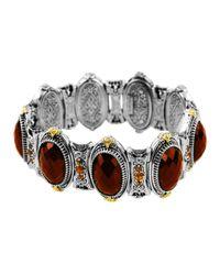 Konstantino - Red Sterling Silver Cognac Bracelet With 18 Karat Gold - Lyst