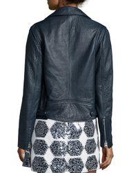 McQ - Black Belted Leather Biker Jacket - Lyst