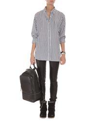 Isabel Marant - Black Eddie Stripe Cotton Shirt - Lyst