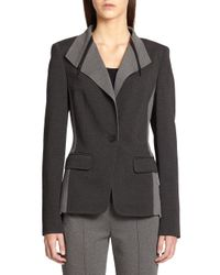 Cushnie et Ochs - Gray Ruffle-trim Flared Dress - Lyst