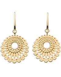 Kit Heath   Metallic Chantilly Drop Earrings   Lyst