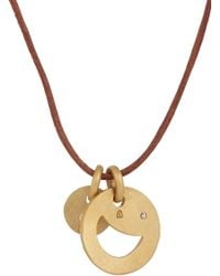 Linda Lee Johnson - Metallic Diamond & Gold Cosmic Coin Necklace - Lyst