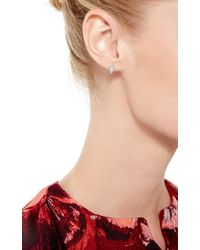 Joelle Jewellery | 18K White Gold Baguette Earrings | Lyst