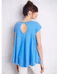 Free People | Blue We The Free Womens We The Free Sylvie Tee | Lyst