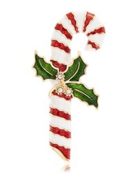 R.j. Graziano | Green Candy Cane Brooch | Lyst