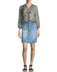 Étoile Isabel Marant - Blue Odelle Button-down Denim Skirt - Lyst