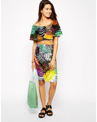 AX Paris | Multicolor Co-ord Set In Tropical Print | Lyst