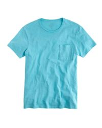 J.Crew | Blue Garment-dyed T-shirt for Men | Lyst