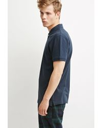 Forever 21 - Blue Classic Piqué Polo for Men - Lyst