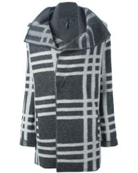 Woolrich - Gray Checked Ruffled Jacket - Lyst