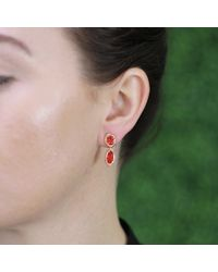 Lucifer Vir Honestus - Red Fire Opal Drop Earrings - Lyst