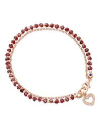 Biography | Red Spinel Heart Bracelet | Lyst