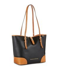 Dooney & Bourke | Black Claremont Dover Leather Tote | Lyst