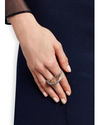 Bochic | Metallic Dragon Diamond Rhodium-Plated Ring | Lyst