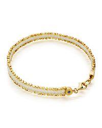 Astley Clarke - White Woven Cord Nugget Bracelet - Lyst