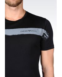 Emporio Armani | Black T-shirt In Cotton Jersey for Men | Lyst