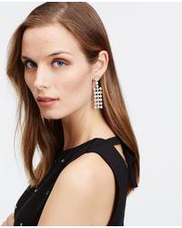 Ann Taylor | Metallic Crystal Chandelier Earrings | Lyst