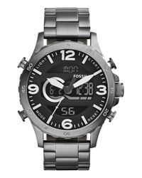 Fossil - Gray 'nate' Ana-digi Watch for Men - Lyst