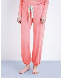 Eberjey - Pink Heather Jersey Pyjama Bottoms - Lyst