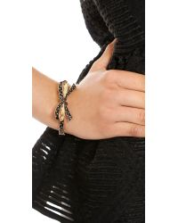kate spade new york - Multicolor Finishing Touch Polka Dot Bangle Bracelet Black Multi - Lyst