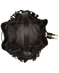 Vince Camuto - Black Joni Suede Fringe Drawstring Bag - Lyst