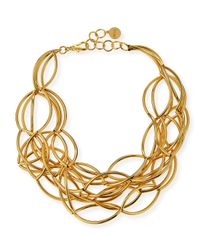 Nest | Metallic Gold-Plated Twisted Collar Necklace | Lyst