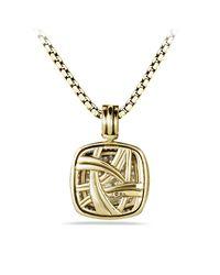David Yurman - Metallic Albion Pendant With Diamonds In Gold - Lyst