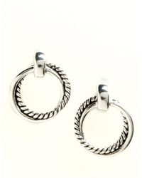 Lauren by Ralph Lauren | Metallic Twisted Link Doorknocker Earrings | Lyst