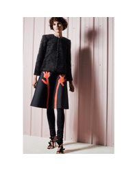 Acne Studios - Black Grid Flower Skirt - Lyst