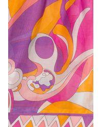 Emilio Pucci | Cotton-silk Printed Shorts - Multicolor | Lyst