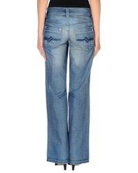 GAUDI - Blue Denim Trousers - Lyst