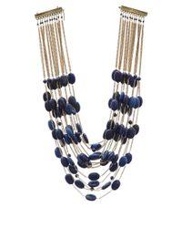 Rosantica - Blue Gold-Plated Sacramento Multi Layer Necklace - Lyst