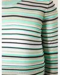 KENZO | Green Striped Sweater | Lyst