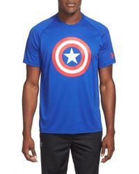 Under Armour - Blue 'alter Ego Core Captain America' Graphic Training T-shirt for Men - Lyst