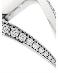 Shaun Leane - White-Diamond & White-Gold V Ring - Lyst