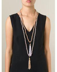 Rosantica | Multicolor Fringe Pendant Beaded Necklace | Lyst