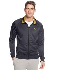 PUMA - Gray Full-Zip Tricot Track Jacket for Men - Lyst