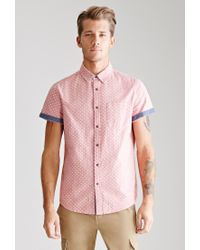 Forever 21 | Pink Polka Dot Oxford Shirt for Men | Lyst