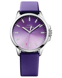 Juicy Couture - Women'S Jetsetter Purple Silicone Strap Watch 38Mm 1901165 - Lyst